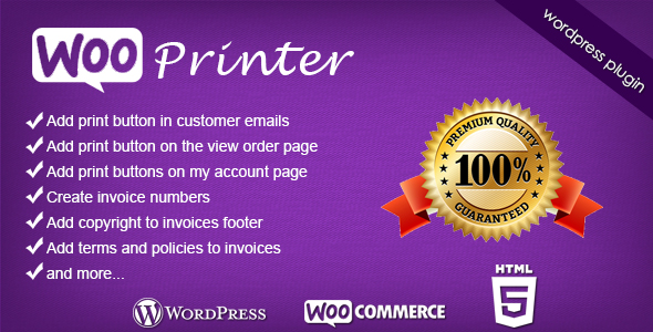 Download Woo Printer WooCommerce WordPress Plugin nulled version