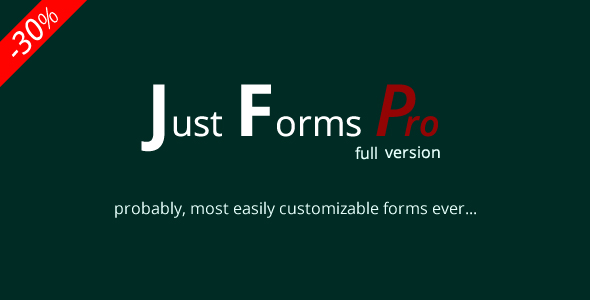 Just Forms Pro full - CodeCanyon Item for Sale