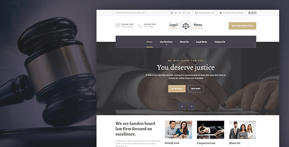 LegalPress - Law, Attorney, Insurance, Legal HTML Template