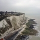 A View To White Cliffs of Dover From the Air  Footage - VideoHive Item for Sale