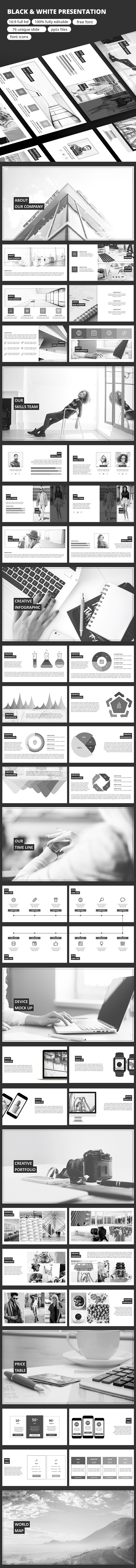 Black & White - Google Slide - Google Slides Presentation Templates