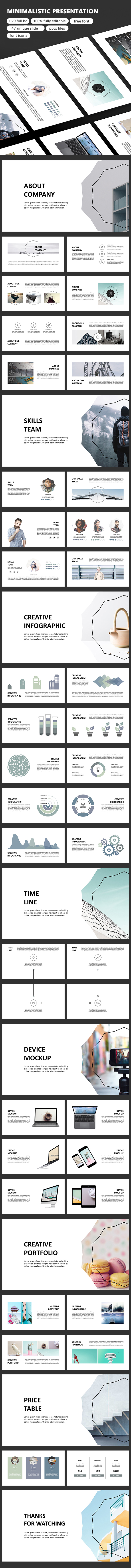 Minimalistic - Google Slide - Google Slides Presentation Templates