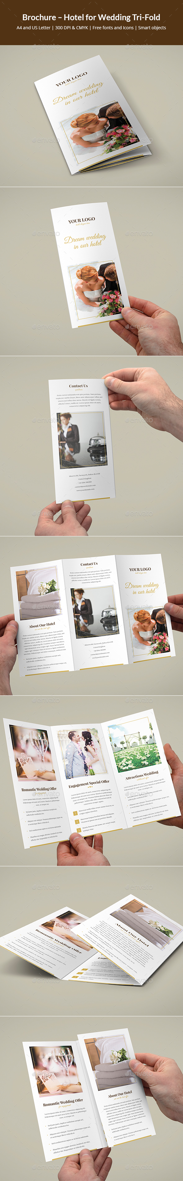 Brochure – Hotel for Wedding Tri-Fold - Corporate Brochures