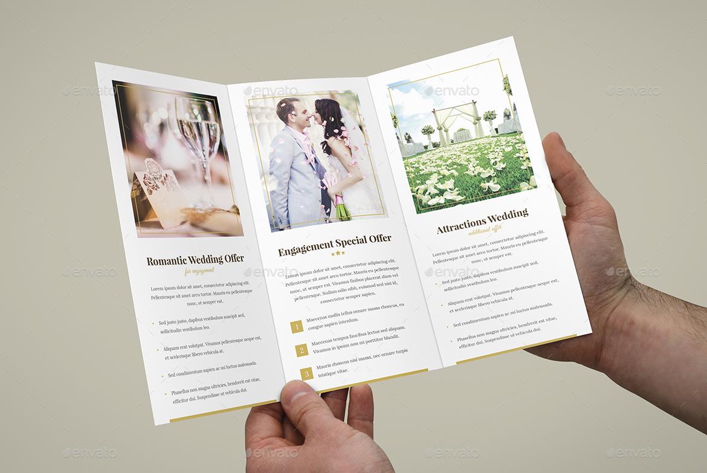 Brochure Hotel For Wedding Tri Fold By Artbart