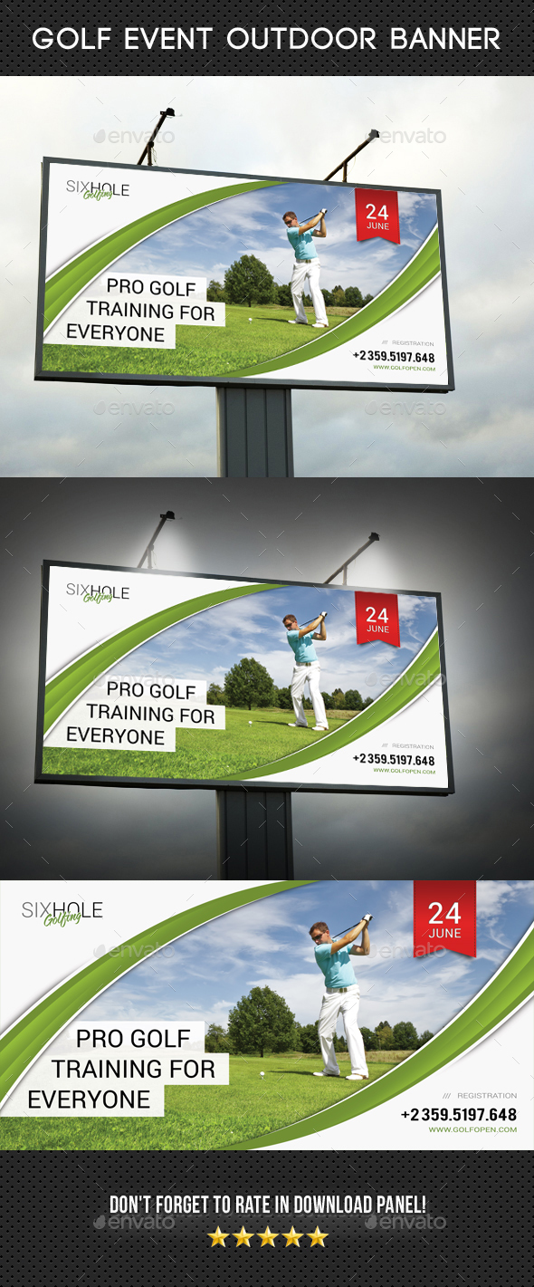 Golf Event Outdoor Banner 05 - Signage Print Templates
