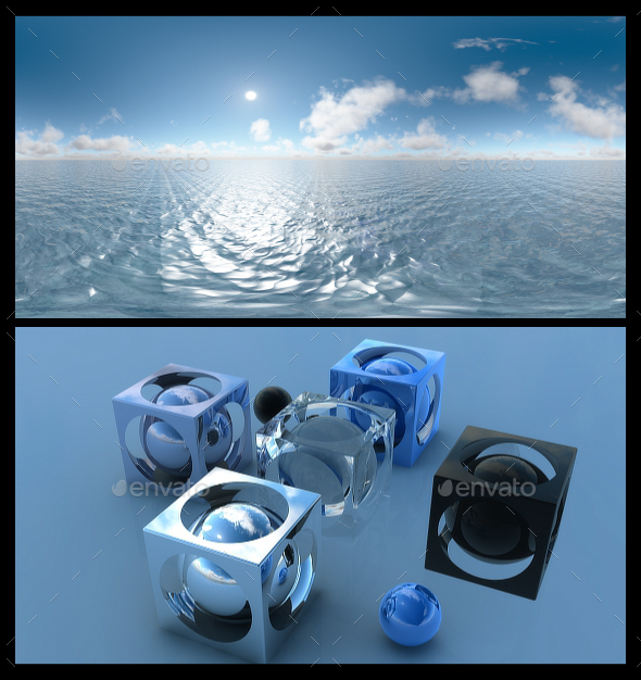 Ocean Blue Clouds 13 - HDRI - 3DOcean Item for Sale