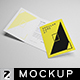 Regular Card A7 Mockup - GraphicRiver Item for Sale