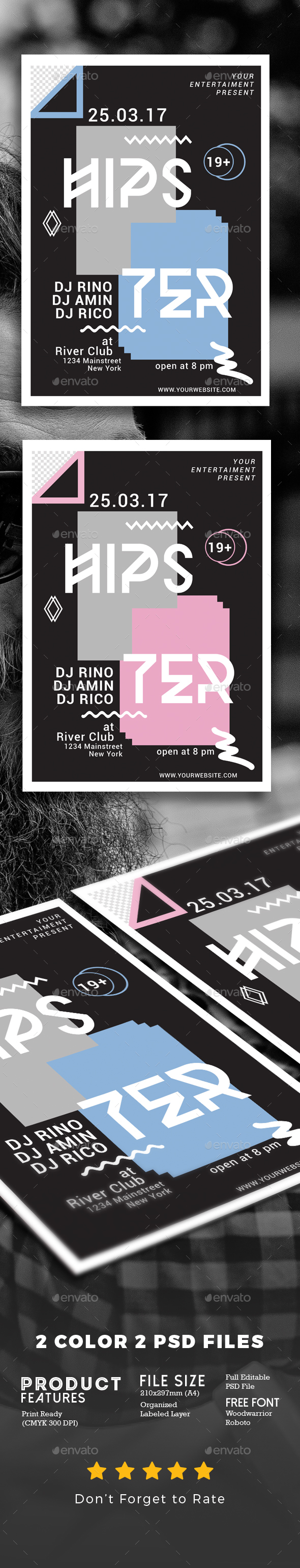 Minimal Hipster Party Flyer - Events Flyers