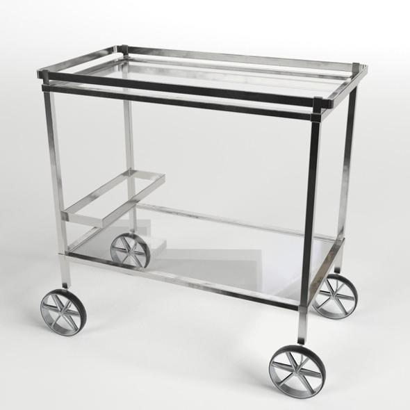 Food Trolley Beverage Cart 4 - 3DOcean Item for Sale