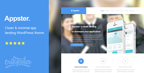 Appster - Ultimatel App Landing Page WordPress Theme - Marketing Corporate
