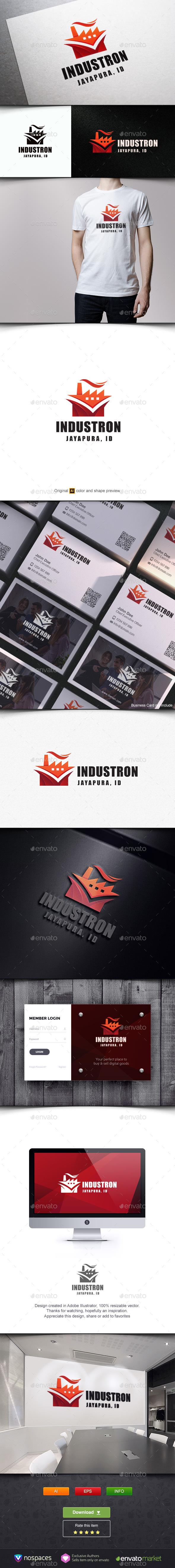 Industron - Buildings Logo Templates