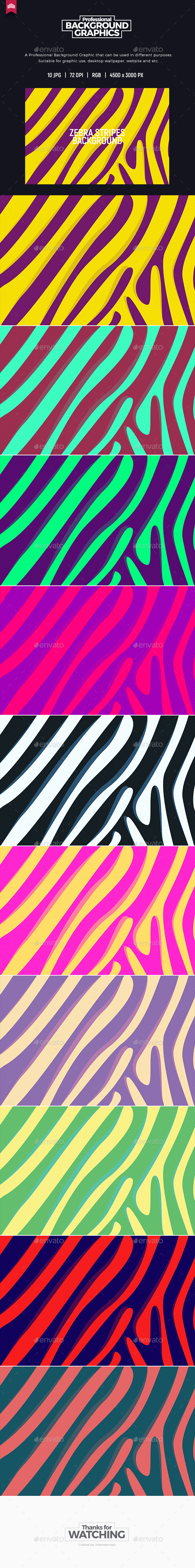 Zebra Stripe Background - Backgrounds Graphics