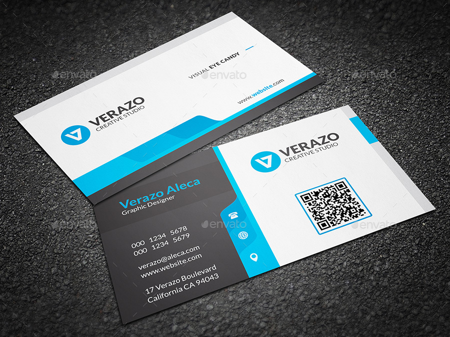Creative & Modern Corporate Business Card Template by verazo ...