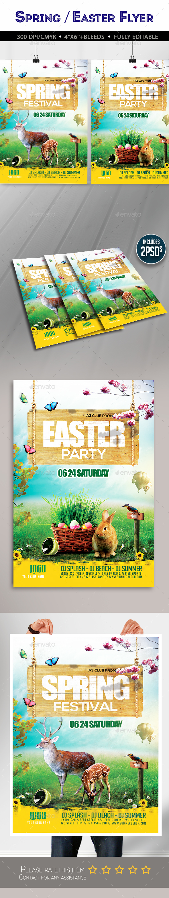 Spring / Easter Flyer - Clubs & Parties Events