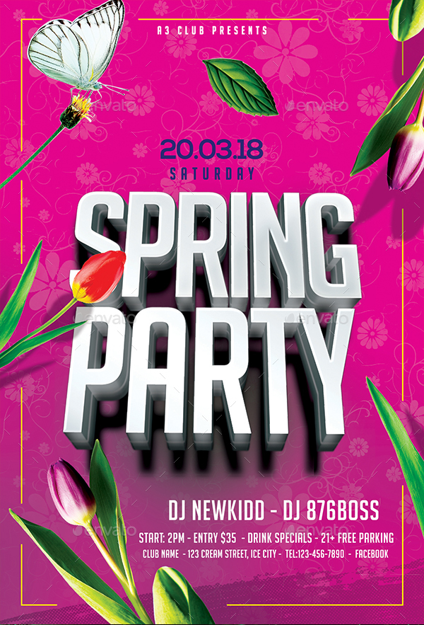 Spring Party Flyer By Arrow  Graphicriver