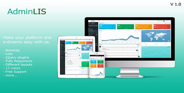 AdminLIS – Responsive Bootstrap Admin Dashboard Template