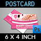 Beauty Center Postcard Template - GraphicRiver Item for Sale