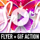 Spring Festival Flyer + GIF Animation Action - GraphicRiver Item for Sale