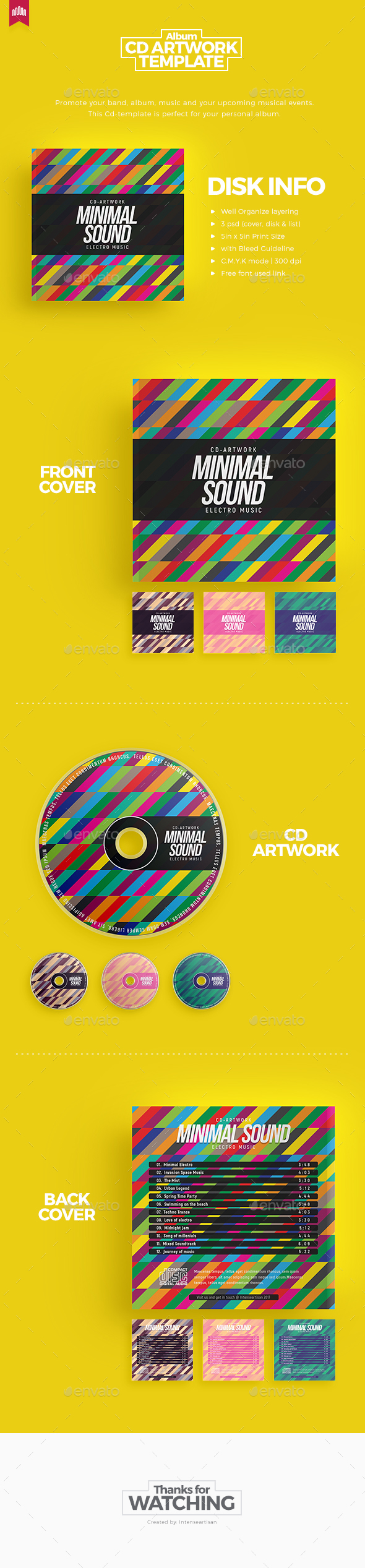 Minimal Sound - Cd Artwork - CD & DVD Artwork Print Templates