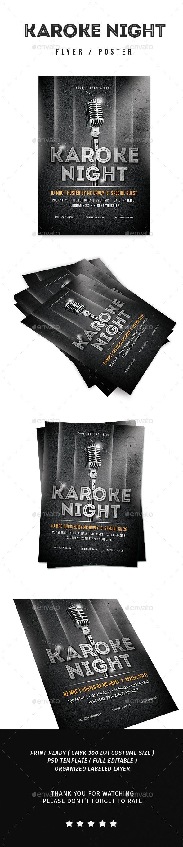 Karoke Night Flyer - Events Flyers