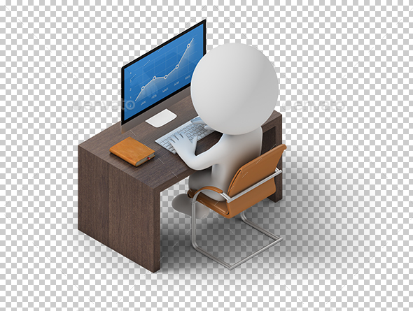 Isometric People - Workplace - Characters 3D Renders