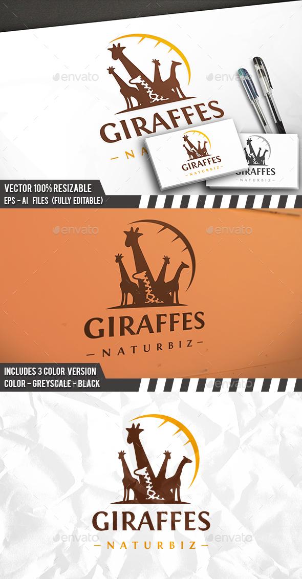 Giraffes Logo - Animals Logo Templates