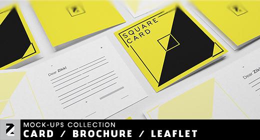 Card - Brochure - Leaflet Mockups