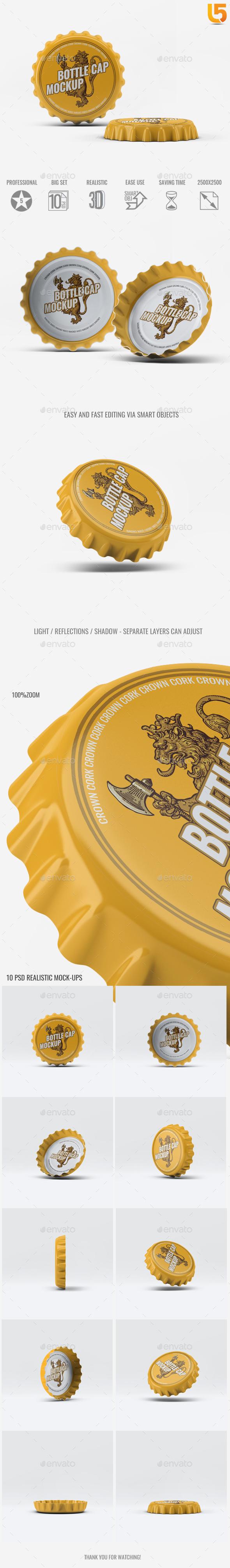 Bottle Cap Mock-Up - Food and Drink Packaging