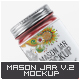 Mason Jar Mock-Up V.2 - GraphicRiver Item for Sale