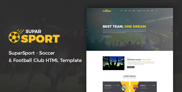 SuparSport - Soccer and Football Club HTML Template - Nonprofit Site Templates