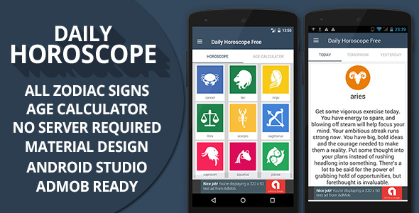 Daily Horoscope + Admob Ready - CodeCanyon Item for Sale