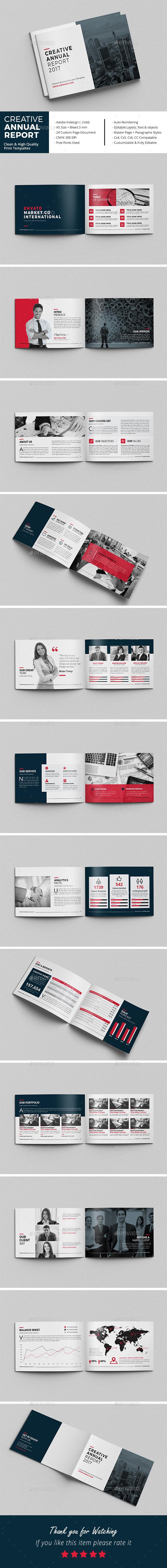 Creative Annual Report Brochure - Corporate Brochures