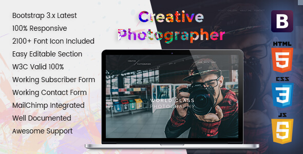 Creative – Personal Portfolio Photography Template