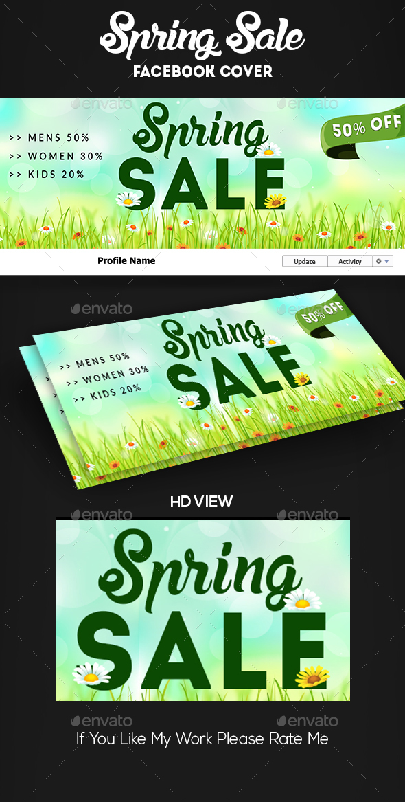 Spring Sale Facebook Cover - Facebook Timeline Covers Social Media