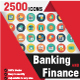 2500 Bundle Pack Banking and Finance Icons - GraphicRiver Item for Sale