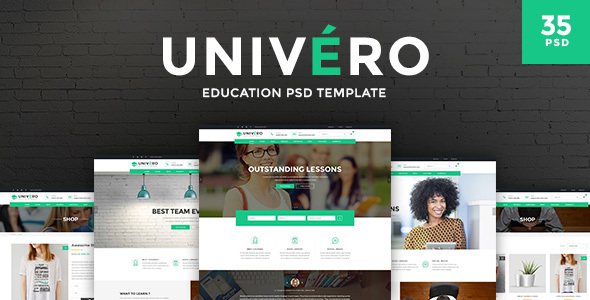 Univero - Education PSD Template