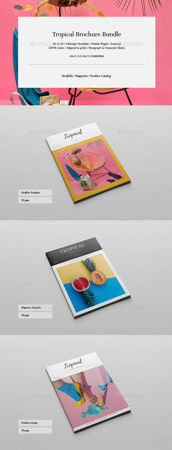 Tropical Brochure Bundle - Brochures Print Templates