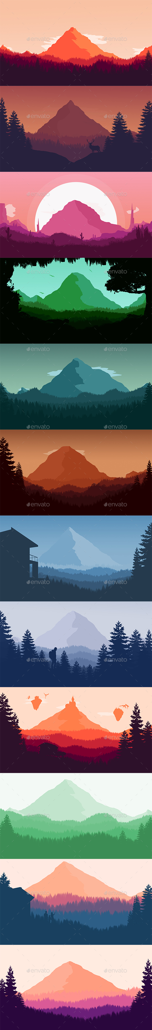 Creative Landscape Backgrounds - Nature Backgrounds