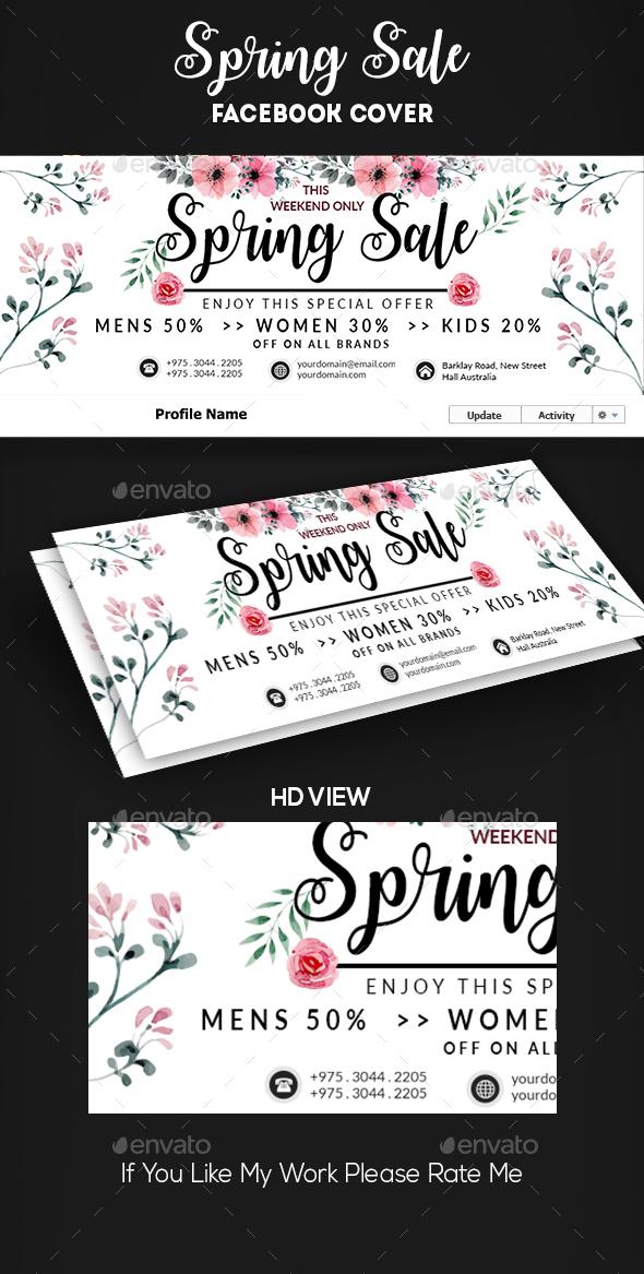 Spring Summer Sale Facebook Cover - Facebook Timeline Covers Social Media