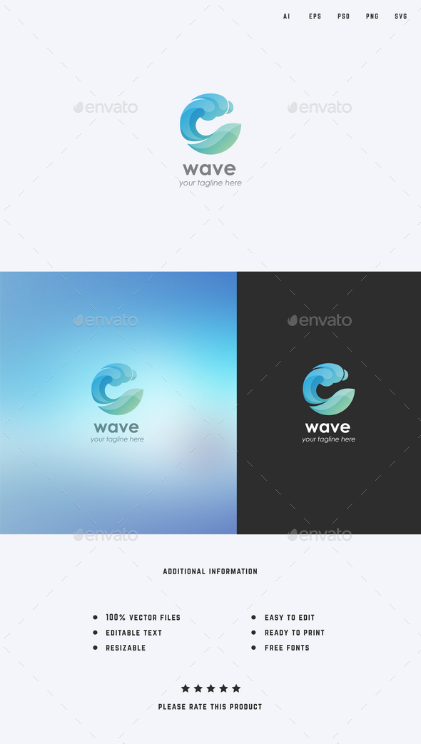 Water/Wave Logo Template - Abstract Logo Templates