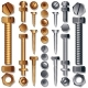 Set of Screws, Bolts, Nuts and Rivets - GraphicRiver Item for Sale