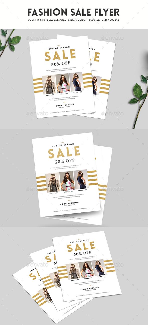 Minimal Fashion Sale Flyer - Commerce Flyers