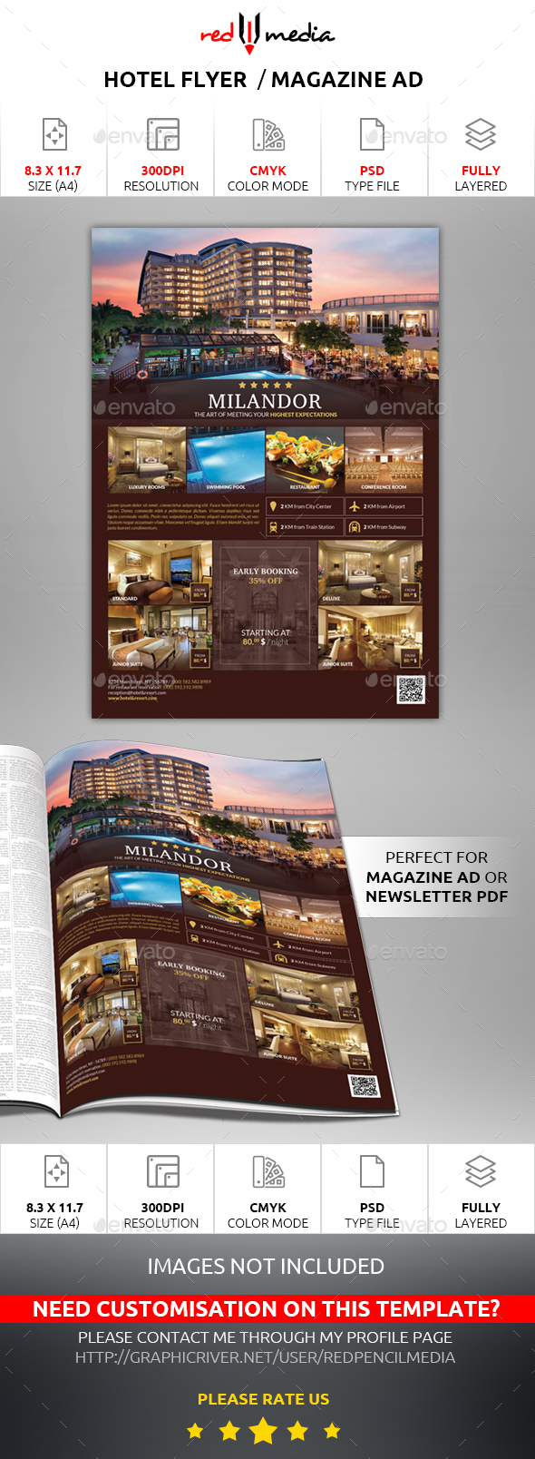 Hotel Flyer / Magazine AD - Commerce Flyers