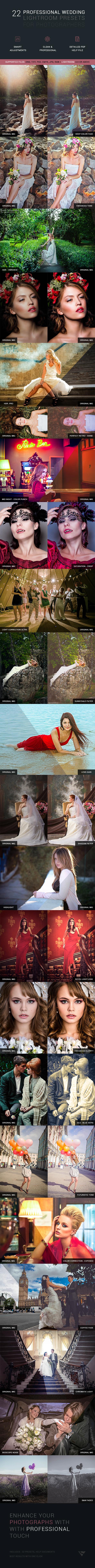 22 Professional Wedding Lightroom Presets - Wedding Lightroom Presets