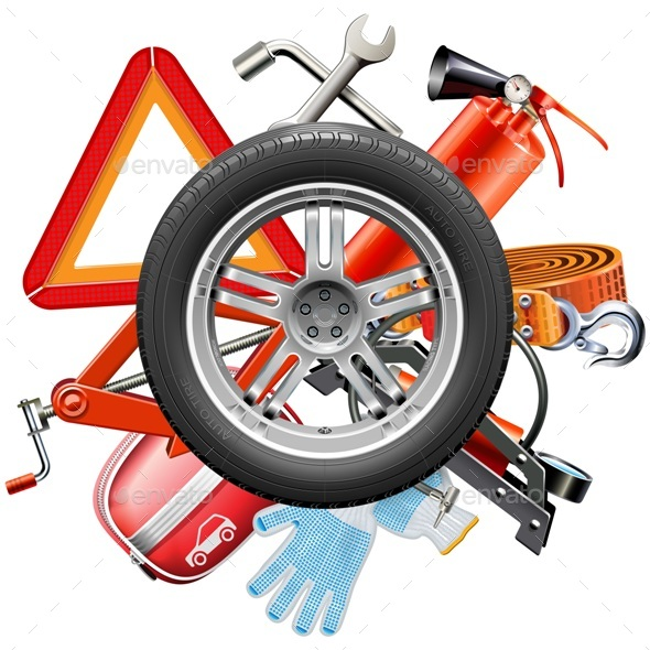 Wheel with Car Accessories - Industries Business