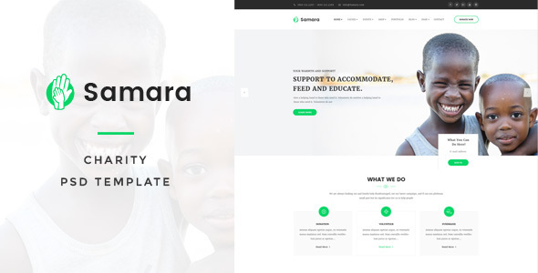 Samara - Charity PSD Template - Charity Nonprofit