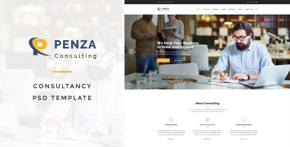 Penza - Consulting PSD Template - Business Corporate