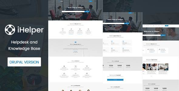 iHelper – Drupal Knowledge & Helpdesk Theme