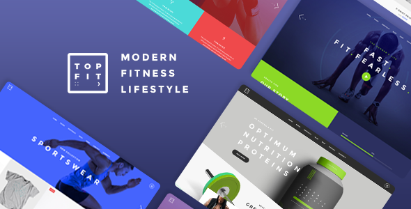 TopFit – A Modern Fitness, Gym, and Lifestyle Theme