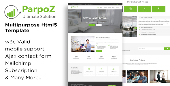 Parpoz – Multipurpose Html5 Template